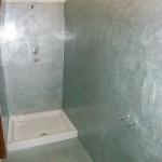 bagno in resina materica