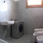 bagno in resina spatolata