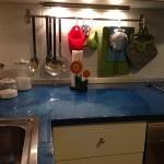 top cucina in resina