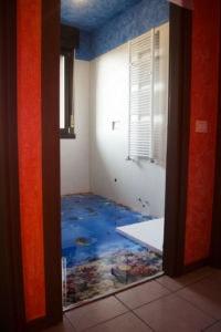 bagno pavimento resina 3d